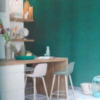 Papel Tapiz verde sin diseño con textura color verde