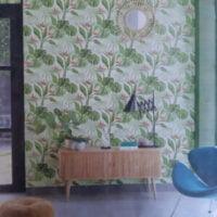 Papel Tapiz con flores verdes para cualquier habitación