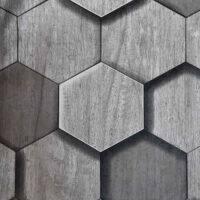 Papel Tapiz gris en forma de rombos
